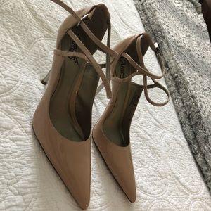 Nude pointed stiletto heels